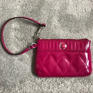 Coach Poppy Gloss Quilted Patent Leather Wristlet